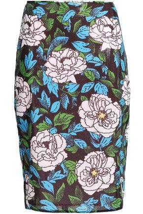 DIANE VON FURSTENBERG Sequined printed gauze skirt