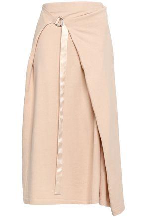 JOSEPH Cotton-jersey midi wrap skirt
