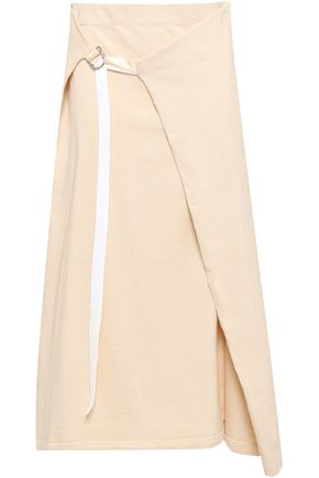 JOSEPH Cotton-jersey midi wrap skirt