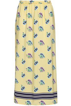 MARKUS LUPFER Cora printed silk crepe de chine midi skirt