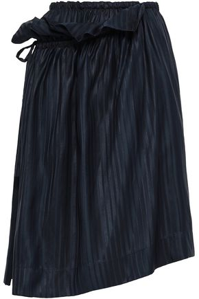 STELLA McCARTNEY Ruffle-trimmed silk-jacquard skirt