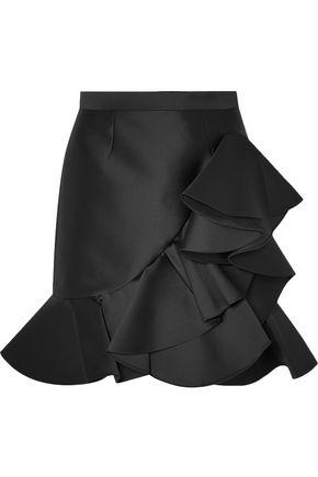 STELLA McCARTNEY Ruffled twill mini skirt
