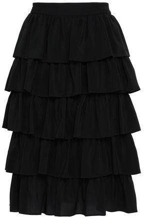 STELLA McCARTNEY Tiered crepe skirt