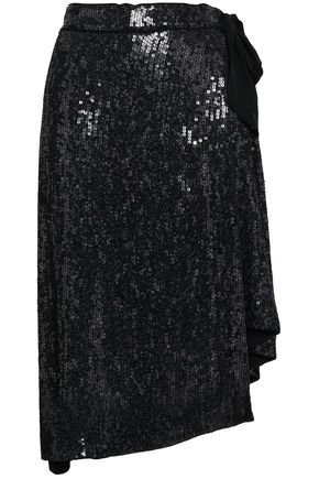 DIANE VON FURSTENBERG Brendah wrap-effect sequined silk skirt