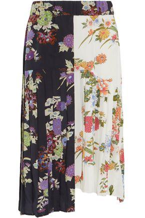ISABEL MARANT Inaya pleated printed silk crepe de chine skirt
