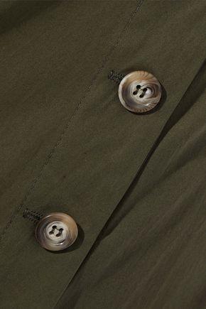 IRIS & INK ボタン付き コットンポプリン スカート