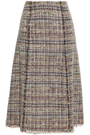 DIANE VON FURSTENBERG Emmaline frayed tweed midi skirt