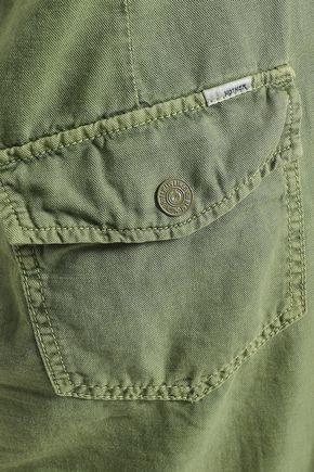 MOTHER Asymmetric cotton-blend gabardine skirt