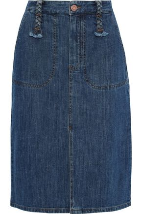 SEE BY CHLOÉ Braid-detailed denim skirt