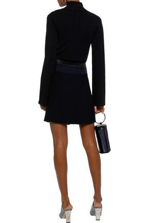 VICTORIA, VICTORIA BECKHAM Patchwork satin and crepe mini skirt