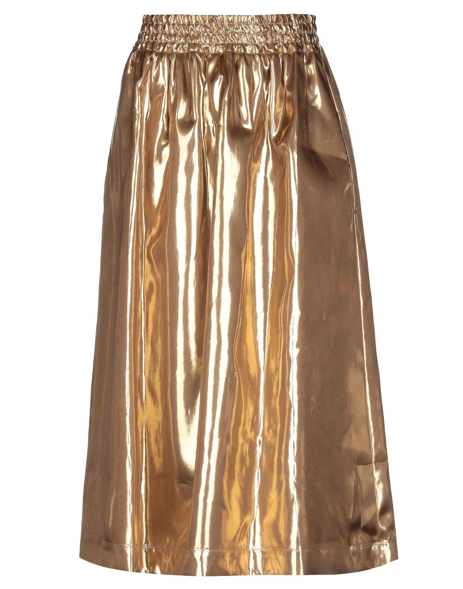 GOLDEN GOOSE DELUXE BRAND Юбка длиной 3/4 gold plated banana plug jack connector set golden 3 5mm 10 pairs