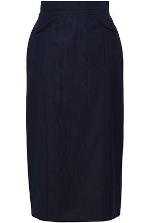 ALEXACHUNG Pinstriped wool skirt