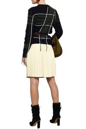 REDValentino Plissé leather skirt