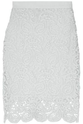 MIGUELINA Cotton-lace skirt