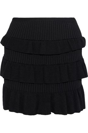 REDValentino Tiered knitted mini skirt