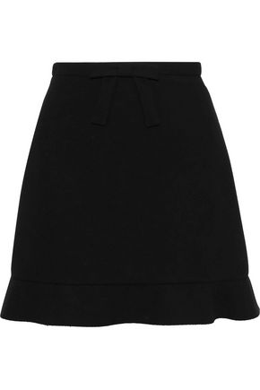 REDValentino Bow-embellished neoprene mini skirt
