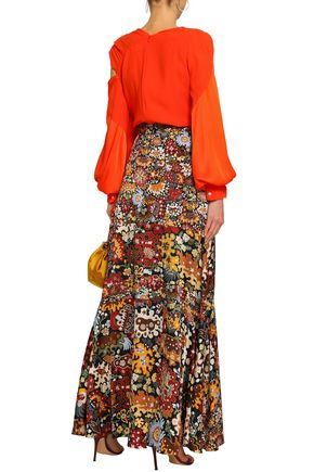 PETER PILOTTO Silk-jacquard maxi skirt