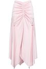 PETER PILOTTO Ruched satin-crepe midi skirt