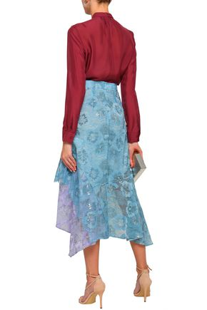PETER PILOTTO Paneled lace midi skirt