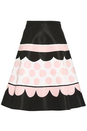 REDValentino Printed faille flared skirt
