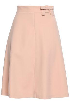 REDValentino Bow-embellished twill skirt