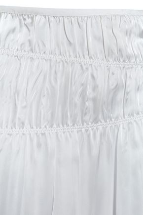 HELMUT LANG Gathered satin skirt