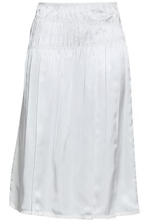 HELMUT LANG Gathered satin skirt