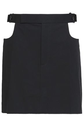 HELMUT LANG Cutout stretch-cotton mini skirt