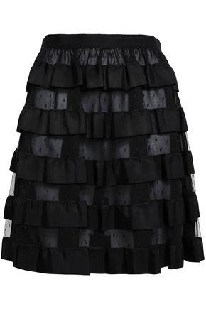 REDValentino ティアード ドットチュール & ファイユ ミニスカート