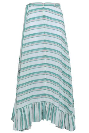 ZIMMERMANN Striped cotton-gauze maxi skirt
