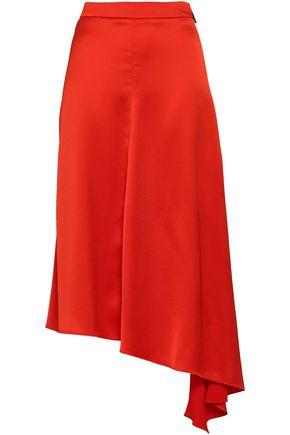 MSGM Asymmetric crepe de chine skirt