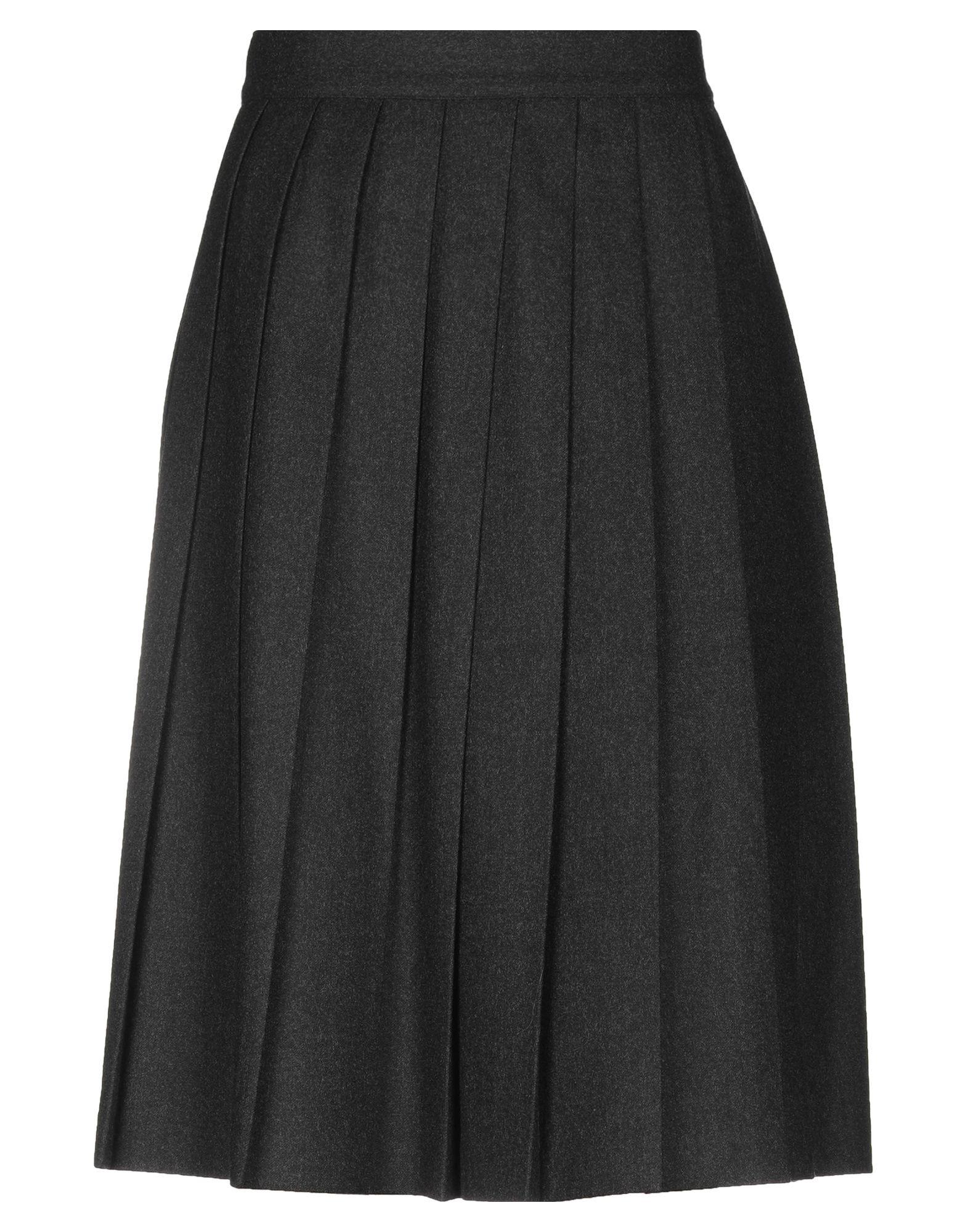 《送料無料》INCOTEX レディース ひざ丈スカート 鉛色 46 ウール 100%
