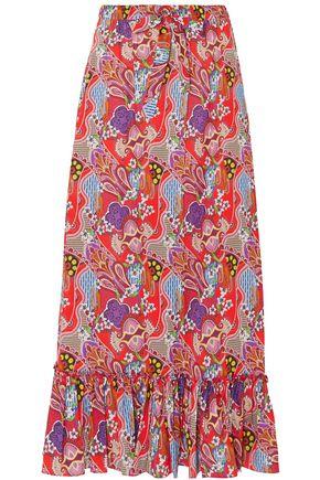 ETRO Printed cotton-voile maxi skirt