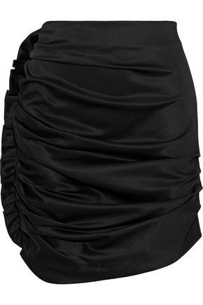 MAGDA BUTRYM Salamanca ruched silk-satin mini skirt