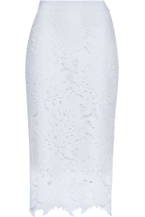 Lace Pencil Skirt by Msgm