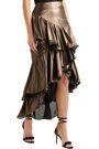 JOHANNA ORTIZ Bangkok tiered lamé skirt