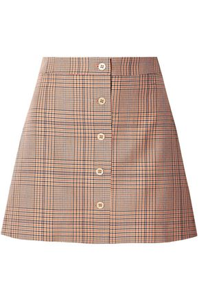 PAUL & JOE Tartan checked cotton-twill mini skirt