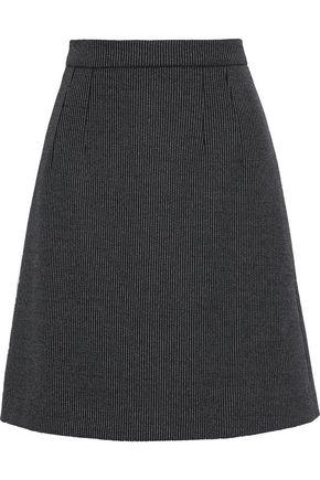 DOLCE & GABBANA Pinstriped wool-blend mini skirt