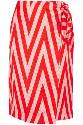Wrap Effect Printed Silk Twill Skirt by Diane Von Furstenberg