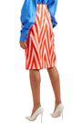 DIANE VON FURSTENBERG Wrap-effect printed silk-twill skirt