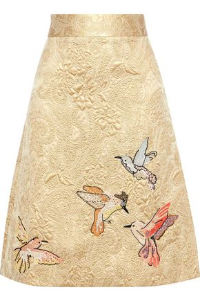 REDValentino Embellished brocade skirt