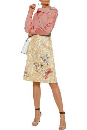 RED(V) Embellished brocade skirt