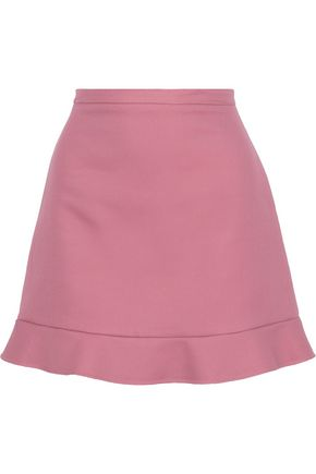 REDValentino Fluted cotton-twill mini skirt