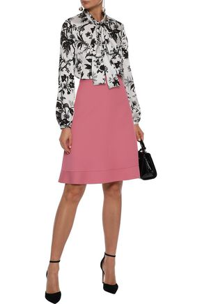 REDValentino Fluted cotton-blend skirt