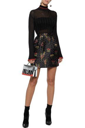 REDValentino Floral-jacquard mini skirt