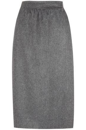 GUCCI Wool, silk and angora-blend wrap skirt