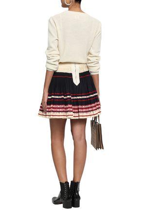 REDValentino Pleated woven mini skirt