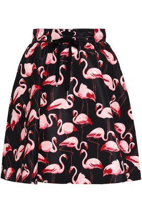 REDValentino Printed faille mini skirt