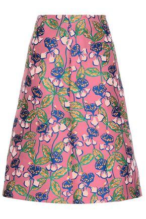 REDValentino Floral-jacquard skirt