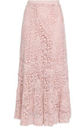 REDValentino Cotton guipure lace maxi skirt